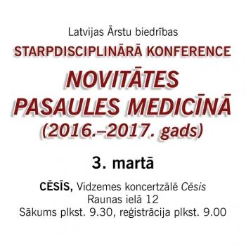 Starpdisciplinārā konference – 3.marts – Cēsis