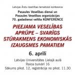 Konference – 6.aprīlis – Rīga