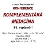 Konference – Komplementārā medicīna 28. septembrī