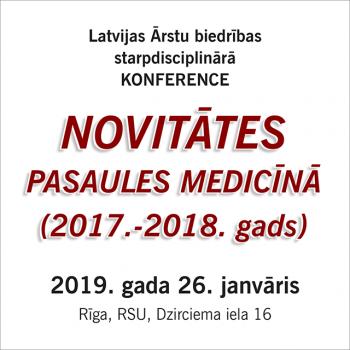 Novitātes pasaules medicīnā (2017. – 2018.gads)