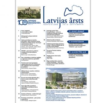 Latvijas Ārsts – 2019 Septembris