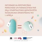 Par zāļu SNN izrakstīšanu no 2020. gada 1. aprīļa